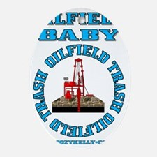 Oilfield Baby ACa 1b A4 Blue Oval Ornament