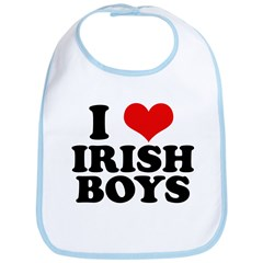 I Love Irish Boys Red Heart Bib