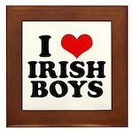 I Love Irish Boys Red Heart Framed Tile