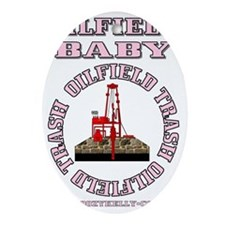 Oilfield Baby ACa 1b A4 Pink Oval Ornament