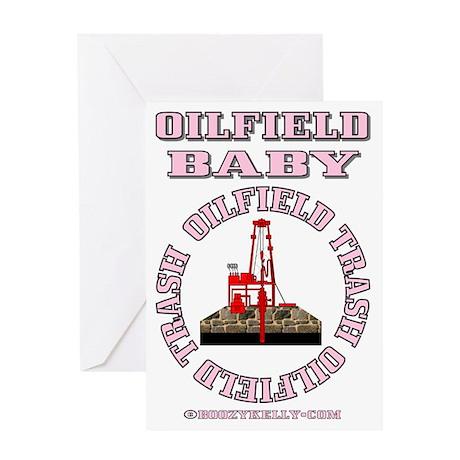 Oilfield Baby ACa 1b A4 Pink Greeting Card