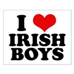 I Love Irish Boys Red Heart Small Poster