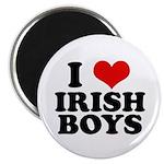 I Love Irish Boys Red Heart Magnet