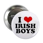 I Love Irish Boys Red Heart Button