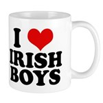 I Love Irish Boys Red Heart Mug