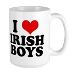 I Love Irish Boys Red Heart Large Mug