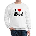 I Love Irish Boys Red Heart Sweatshirt