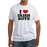 I Love Irish Boys Red Heart Fitted T-Shirt