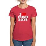 I Love Irish Boys Red Heart Women's Dark T-Shirt