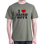 I Love Irish Boys Red Heart Dark T-Shirt