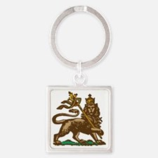Selassie and Lion pics 001 Square Keychain