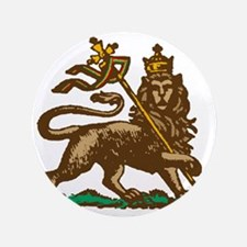 """Selassie and Lion pics 001 3.5"""" Button"""