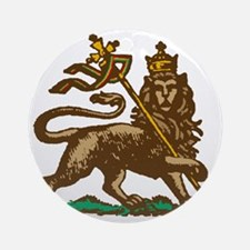 Selassie and Lion pics 001 Round Ornament