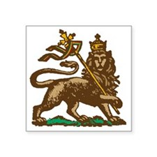 "Selassie and Lion pics 001 Square Sticker 3"" x 3"""