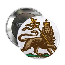 """Selassie and Lion pics 001 2.25"""" Button"""