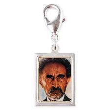 Selassie and Lion pics 009 Silver Portrait Charm