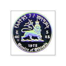 "Selassie and Lion pics 010 Square Sticker 3"" x 3"""