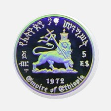 Selassie and Lion pics 010 Round Ornament