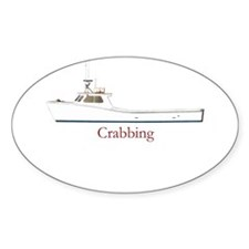 Crabbing Oval Decal