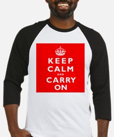 KEEP CALM and CARRY ON original red Baseball Jerse