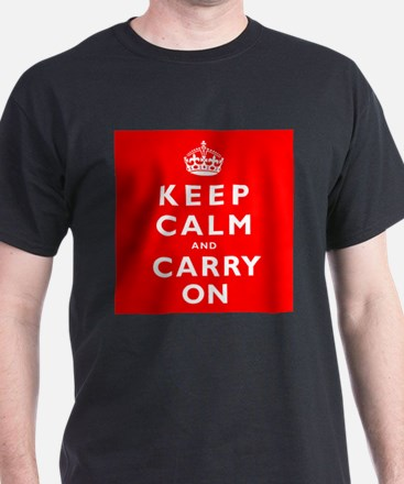 KEEP CALM and CARRY ON original red T-Shirt