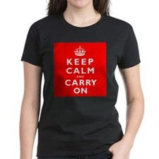 KEEP CALM and CARRY ON original red Tee
