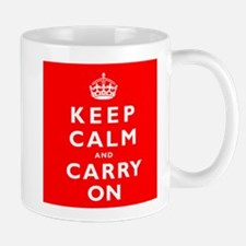 KEEP CALM and CARRY ON original red Mug