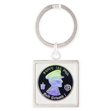 Selassie and Lion pics 011 Square Keychain