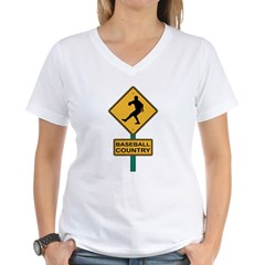 Baseball Country Road Sign Shirt