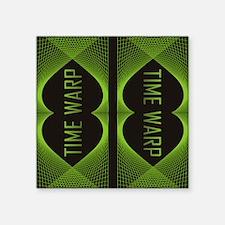 """time warp fflops Square Sticker 3"""" x 3"""""""