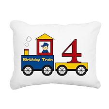 birthdaytrain4 Rectangular Canvas Pillow