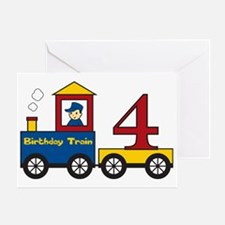 birthdaytrain4 Greeting Card