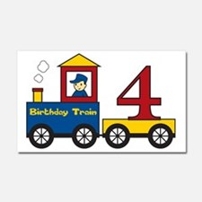 birthdaytrain4 Car Magnet 20 x 12