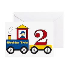 birthdaytrain2 Greeting Card