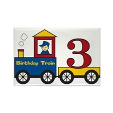 birthdaytrain3 Rectangle Magnet