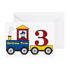 birthdaytrain3 Greeting Card