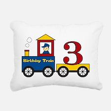 birthdaytrain3 Rectangular Canvas Pillow
