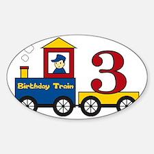 birthdaytrain3 Sticker (Oval)