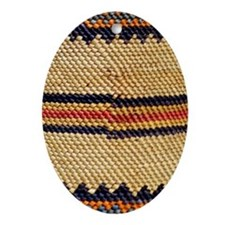 Basket-Weave-iPhone 3 Oval Ornament