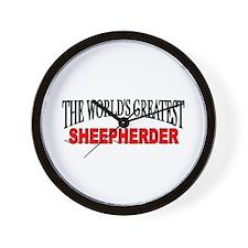 """The World's Greatest Sheepherder"" Wall Clock"