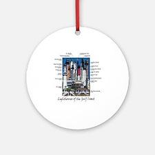Gulf Coast 10 x 10 Round Ornament