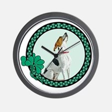 Irish American Foxhound Wall Clock