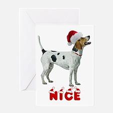 Nice American Foxhound Greeting Card