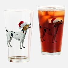 American Foxhound Santa Drinking Glass