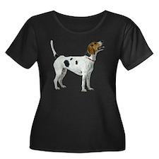 American Women's Plus Size Dark Scoop Neck T-Shirt