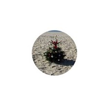 mission bay beach xmas tree 2011 Mini Button