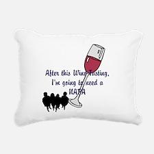 Napa Valley wine tasting Rectangular Canvas Pillow