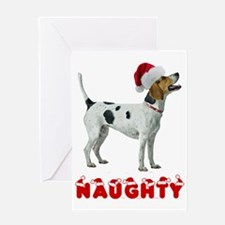 Naughty American Foxhound Greeting Card
