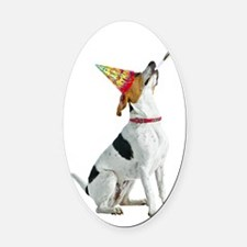 American Foxhound Birthday Oval Car Magnet