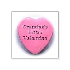 "Grandpas valentine girl Square Sticker 3"" x 3"""